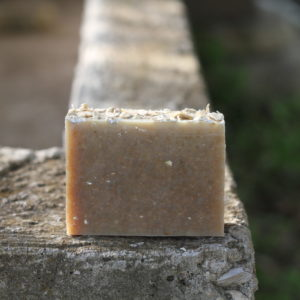 handmade milk soap made with organic oats and olive oil