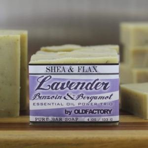 Lavender benzoin Bergamot essential oil artisan soap by old factory