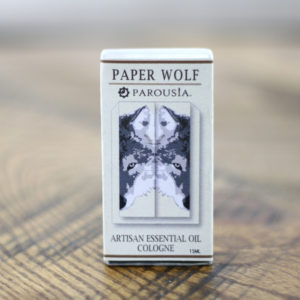 paper wolf handmade natural essential oil cologne by parousia perfumes