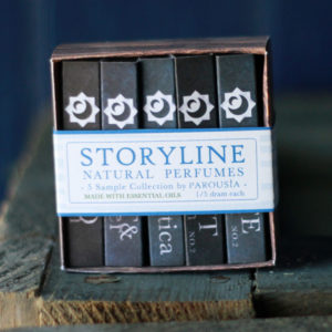 Storyline Perfume Sampler Parousia Perfumes by Old Factory Natural Perfume Oil