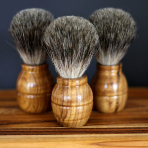 Sustainable organic teak shaving brush