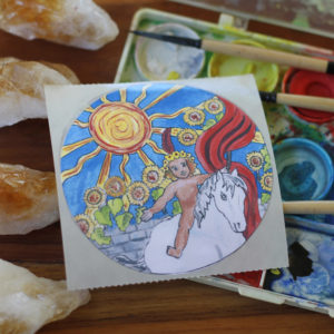 The Sun Card Sticker Tarot Circle Old Factory