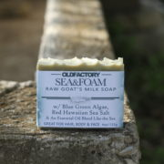 Sea & Foam raw goats milk soap by Old Factory