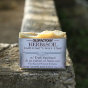 Herb & Soil Raw Goats Milk Soap with Patchouli by Old Factory