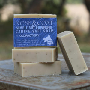 Nose & Coat Blue Old Factory Soap Handmade Dog Soap