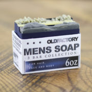 Mens Natural Soap Sampler by Old Factory Soap Company