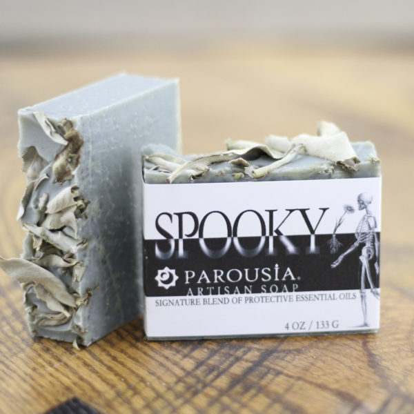 Spooky Protective Essential Oils soap by Parousia