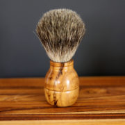 Teak Shaving Brush Old Factory Soap