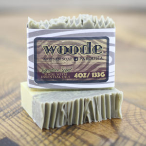 woode natural essential oil soap for men by old factory and parousia