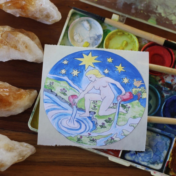 The Star Tarot Card Sticker Old Factory
