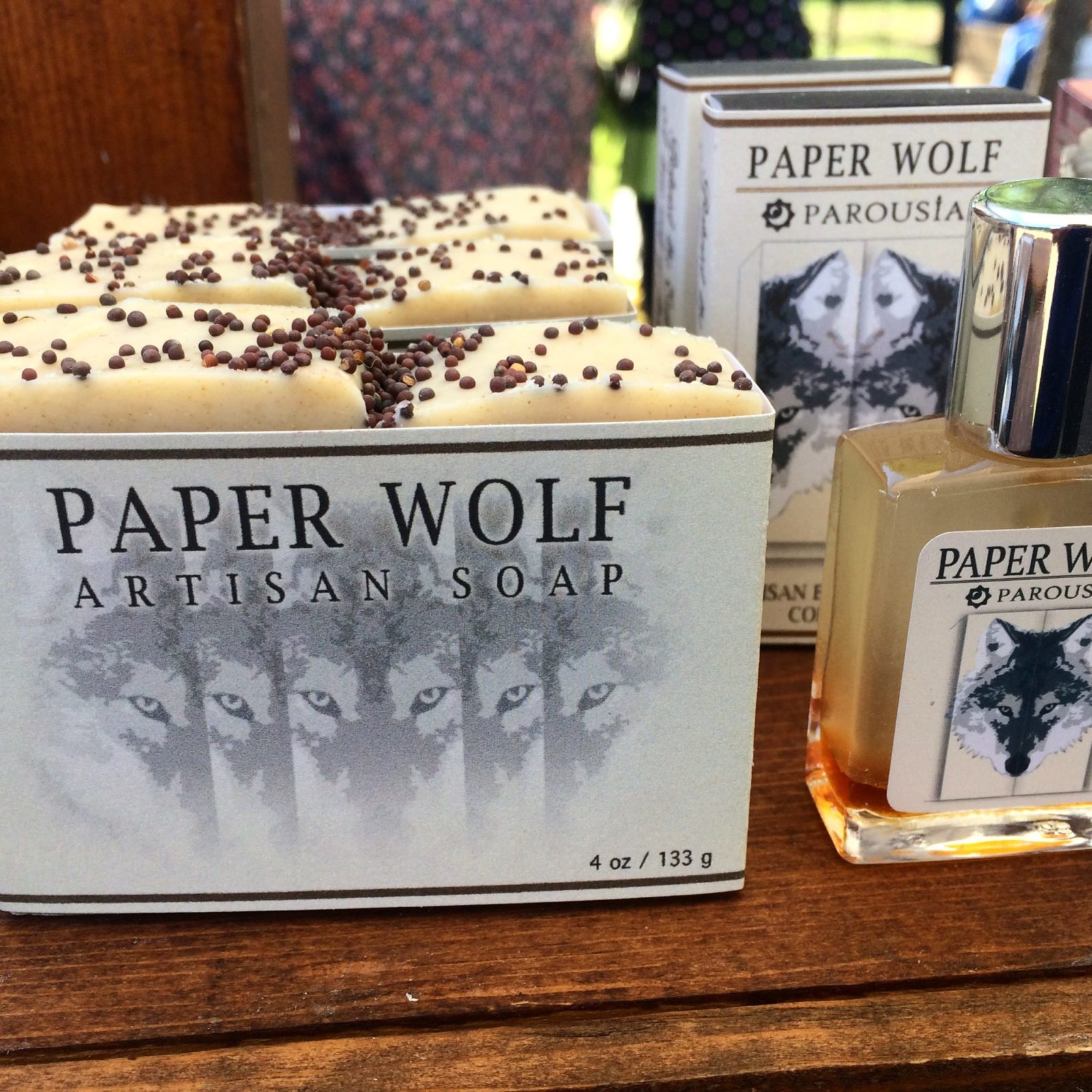 Paper Wolf Natural Soap and Cologne by Old Factory at Founders Day Dripping Springs Texas