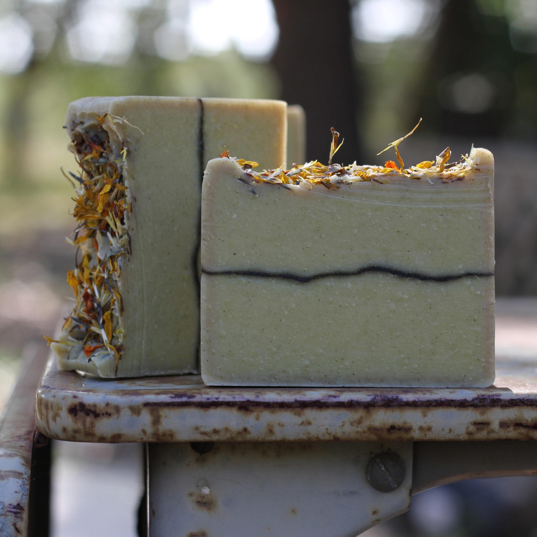 Tea Tree Eucalyptus Lemon Cornmint Limited Edition Soap by Old Factory Blanco Texas