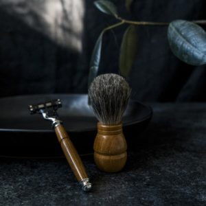 Texas Monthly Magazine Teak and Stainless Steel Razor by Old Factory