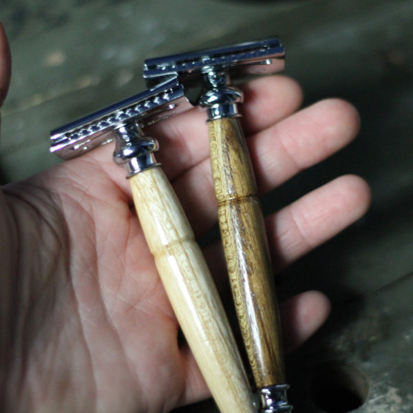 Teak Safety Razor Handmade in Texas by Old Factory