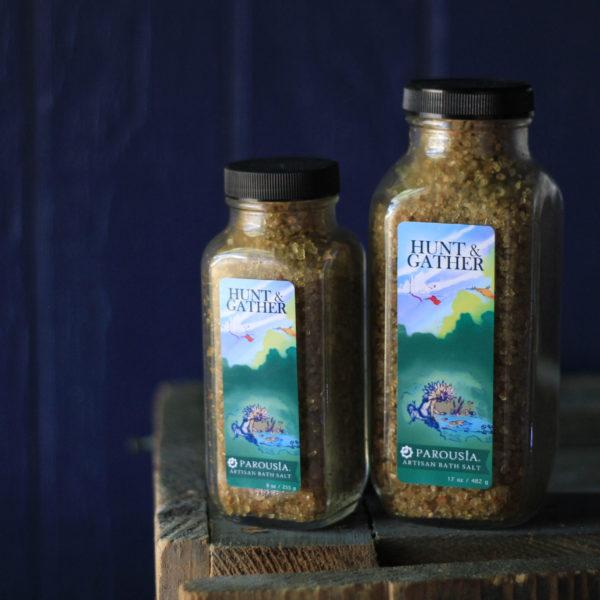 Hunt and Gather Artisan Bath Salt made with Essential Oils and Organic Jojoba Oil