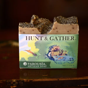 Hunt and Gather Artisan Handmade Soap by Parousia Perfumes and Old Factory made with essential oils
