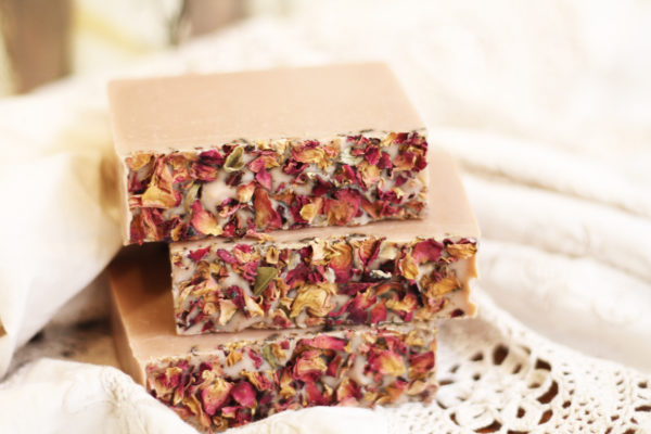 Valentines Day Limited Edition Soap by Old Factory with Patchouli, Frankincense, Benzoin and Rose Petals Blanco TExas