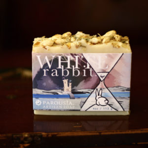 White Rabbit Artisan Handmade Soap by Parousia Perfumes and Old Factory made with essential oils